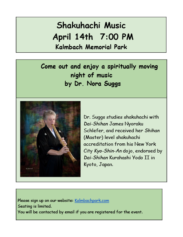 Concert with Dr. Nora Suggs. POSTPONED UNTIL FURTHER NOTICE